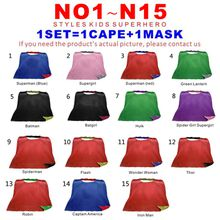 Double Sides 15 Designs Teen & Adult Superhero cape+mask Satin fabric capes Christmas Halloween Cosplay Capes Prop Party Costumes