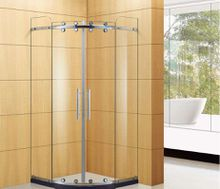 Shower room integral bathroom door toughened glass