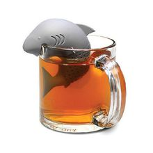 Hot Sale new creative Silicone Teabag Big Shark style Silicone Infuser Tea Leaf Strainer Loose Herbal Spice Filter Diffuser Coffee Tea Tools