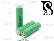 Wholesaler new samsung 25rm 18650 2500mAh 3.7V lithium ion vape battery samsung inr18650-25R M battery