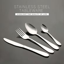 Family Hotel Restaurant High Polished Stainless Steel Cutlery Set