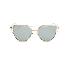 2018 Fashion Cat Eye Women Sunglasses Brand Designer Shopping Flat Top Sun Glasses Ladies Vintage Retro Metal eyewear