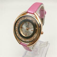 Woman Leather Quartz Watch Fashion Decorated Diamond Luxury Cheap Watch China Guangzhou Brand Muonic Copy Watch