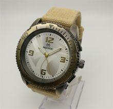 Canvas With Quartz Watch Green Bronze Antique Sports Cheap Watch China Guangzhou Fashion Brand MUONIC Men Watch