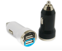 Dual port bullet car charger