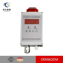 Single Point of Wall-mounted Gas Alarming Detector,Fixed Combustible Gas Detector Authentic and Das Leak Sensor LED Display