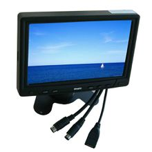 7 inch Desktop/Headrest VGA Monitor With Touch Screen for Car PC mini-itx pc ,pos pc