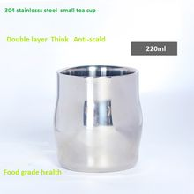 2018 High quality 304 stainless steel food grade double layer anti-scald food grade cup for dink tea coffee and so on