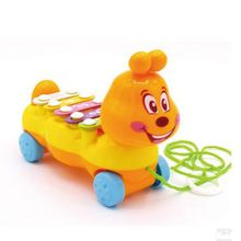 Free Shipping--New children's cartoon drag caterpillar eight-tone percussion piano children's educational toys baby musical instrument toys