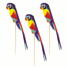16780#, 8 inches 20cm Mini wooden Parrot pick round Disposable Teaspoon Coffee scoops Icecream Cutlery Flatware Eco-Friendly Cake