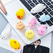 Bear Mochi Squeeze Toys Anti-Stress Decompression Novelty Gag Toys Stress Reliever Gift Cat Shape Kawaii Scented Charm Squishy Squishies