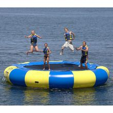 (Specialty store) water trampoline 2 M 3 M,4M,5M diameter 0.6mm PVC inflatable trampoline or inflatable bouncer summer water toy water park