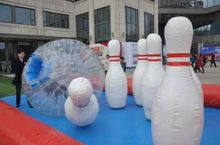 (specialty store) inflatable bowling bottle accessory to zorb ball 1.5 M and 2 M hight water park outdoor toys
