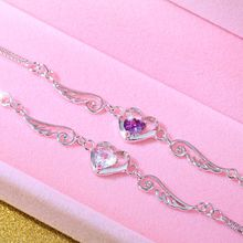 best gift for the sale of 925 silver bracelets, the love of the new fashion 925 standard pure silver chain Gemstone Bracelet women Jewelry
