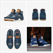 2018 Retro 4 Blue Jeans Denim x Jiont Limited Men's Basketball Shoes for AAA+ quality 4s Flight Fashion Sports Sneakers Size 40-47