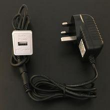 HK Converter UK Plug USB Charger Socket Transformer Power Adapter AC100V-240V to DC5V2A for Smart Home Automation Furniture Sofa Upgraded