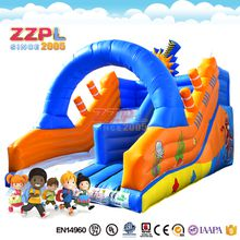 ZZPL Ocean world inflatable slide Hot sale inflatable slide for kids Most popular inflatable blue slide with arch
