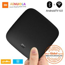 Global Xiaomi Mi TV Box 3 Android 6.0 TV Box Global Version 4K 60fps Amlogic HDMI2.0a HDR Bluetooth IPTV Youtube Netflix Movie Set-top Box