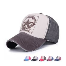 five-pointed star letters men and women ponytail baseball cap visor retro hat adjustable cap casual sunscreen sun hat