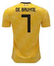 Belgium away Soccer jersey 2018 yellow LUKAKU DE BRUYNE FELLAINI E.HAZARD KOMPANY Belgium football shirt