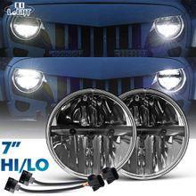 7 Inch Led Driving Light 80w 12V 24V 40W Led Headlights High Low Beam for Jeep Wrangler Lada Niva Hummer H1 H2