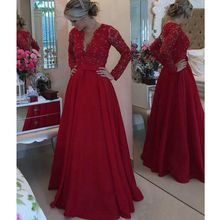 New Real Image Romantic Style V-Neck Floor-Length Evening Long Dresses With Beaded Sash Pleats Prom Gowns