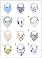 Reusable Washable baby bib Cotton Baby Bandana Drool Bibs Burp Cloth Print Arrow Wave Triangle Adjustable Baby Meal Bib Infant Bibs