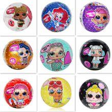 10CM baby dolls&accessories Glitter Series Doll omg swag hair goal Magic Egg Ball blind box Action Figure Toy Kids Unpacking Dolls Girls