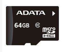 adata 100pcs free dhl 64GB Micro SD SDXC Flash Memory Card Class 10 Micro SD With Adapter Retail Box