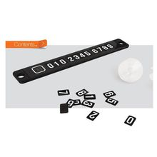 Phone Number Card Plate Sucker Car Sticker Black