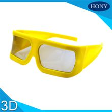 Make Big Yellow Frame Linear Polarized 3D Glasses For 3D 4D 5D Cinema,Passive IMAX 3d glasses linear glasses for 3D movies&TV