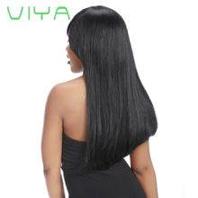 VIYA Brazilian Virgin Straight Hair Extension Unprocessed Human Hair Bundles Free Shipping 10-30 Inch 3 Piece WY0830B
