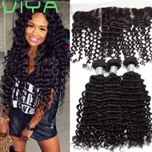 VIYA Brazilian Hair Bundles Deep Wave Unprocessed Deep Human Hair Weave 3pcs Dyeable Hair Extensions