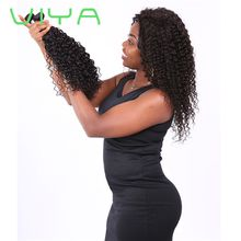 "VIYA Indian Kinky Curly Human Hair Wave Bundles Products ""10-30"" Non-Remy Hair Extensions 3 Piece Free Shipping WE"