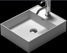 Rectangular bathroom solid surface stone counter top Vesselsink fashionable Corian washbasin RS38338-572