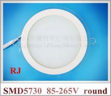 glass covered ceiling LED panel lamp light LED panel lamp SMD 5730 12led 6W / 24led 12W /36led 18W round / square