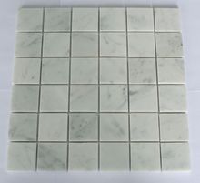Classic Square White Marble Mosaic Tile with 48x48mm mounted on mesh of building material suit any projects 10pcs/lot