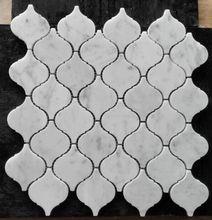 Stylish and Graceful scaldfish Shape Carrara Mosaic polished for interior wall and flooring kitchen and bathroom surrounding use 10pcs/lot