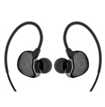 2017 new ear sweat sports headphones, headphones with remote control and microphone, ear hanging, cable stereo exercise