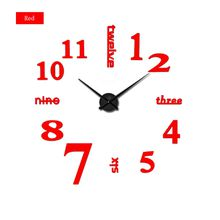 Wholesale- 2017 new clock watch clocks Large Wall Stickers home decoration Living Room 3d diy Acrylic mirror horloge free hot shipping