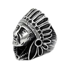 American Indian Chief Shape Stainless steel Rings Vintage Personality Titanium Rings Jewelry Accessories