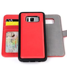 Mobile Phone Leather Detachable RFID Wallets Phone Case for Samsung Galaxy S8