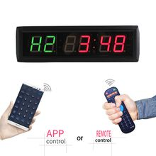 [GANXIN]New 1.8'' LED Countdown Clock Interval Wall Clock For MMA Box Tabata Crossfit Timer 530mm x100mm x 40mm