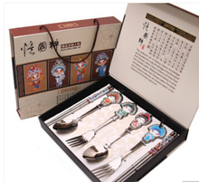 craft gift Chinese style of Chinese wind Peking Opera facial mask set abroad foreign affairs gift to send the elders gift six pieces