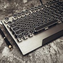 The jedi survival mechanical keyboard game the black axis of the black axis atletico metal throwback of the metal - punk typewriter