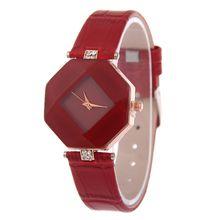 Luxury Mirror Dial Watch Women Diamond Rhombic Leather Watches Fashion Leisure Rhinestone Crystal Dress Quartz Wrist watches for women
