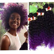 220G FREETRESS deep wave bundles brazilian kinky curly hair weaves SEW IN HAIR EXTENSIONS Blonde Extensions burgundy color weave bundles