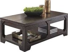 Creative Wooden Coffee Table with Metal Leg Modern