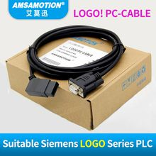Amsamotion LOGO Compatible Siemens USB-LOGO Series PLC Programming Cable PC-LOGO RS232 Cable LOGO PC-CABLE 6ED1057-1AA01-0BA0