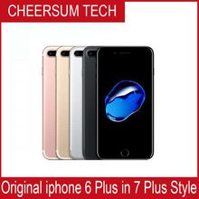 Without fingerprint DHL Free 2017 original iphone 6 in 7 style Mobilephone 4.7 5.5 inch 16GB 64GB 128GB Cellphone